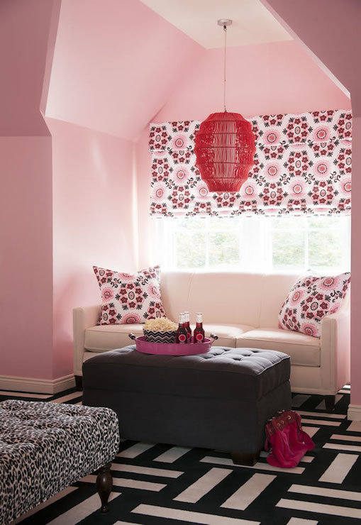 Black And White Carpet Tiles Contemporary Girl S Room