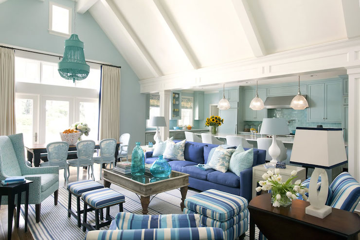 Blue Living Rooms Cottage Room Sherwin