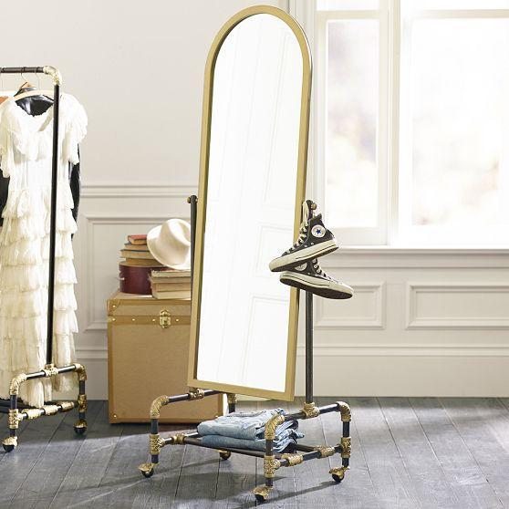 The Emily and Meritt Gold Floor Mirror