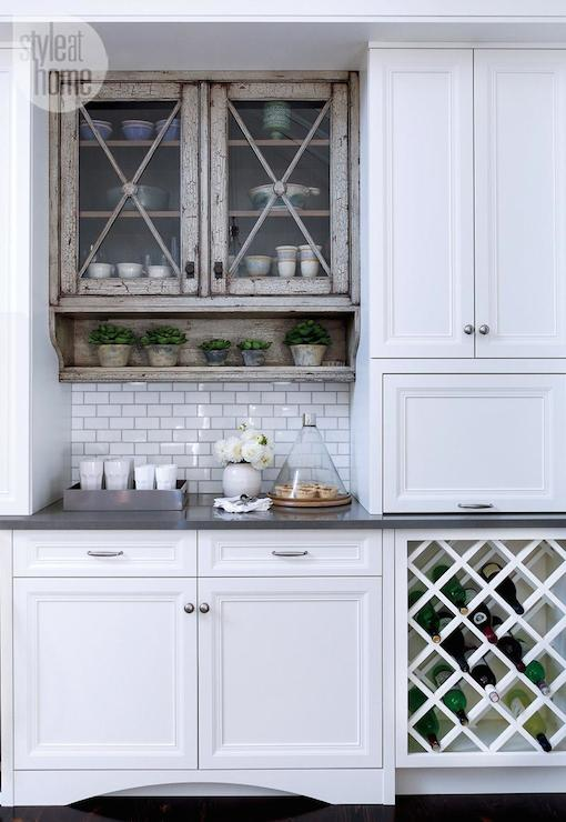 Under Cabinet Wine Rack Transitional Kitchen Style At Home