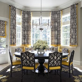 Bon Gray And Yellow Dining Rooms