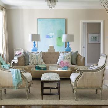 Geige Tufted Sofa, Transitional, living room, Tobi Fairley