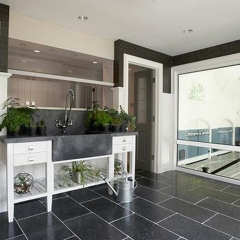 Indoor garden contemporary porch jarlath mellett for Mudroom sink ideas