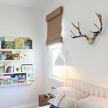Ikea Book Ledge, Transitional, boy's room, Amber Interiors