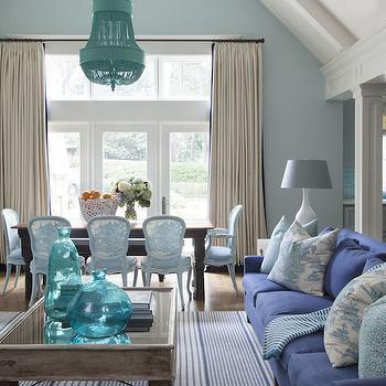Blue Cottage Living Room, Cottage, living room, Sherwin Williams Tidewater, Tobi Fairley