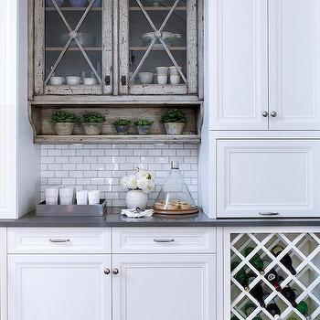 Under Cabinet Wine Rack - Cottage - dining room - Polhemus Savery ...