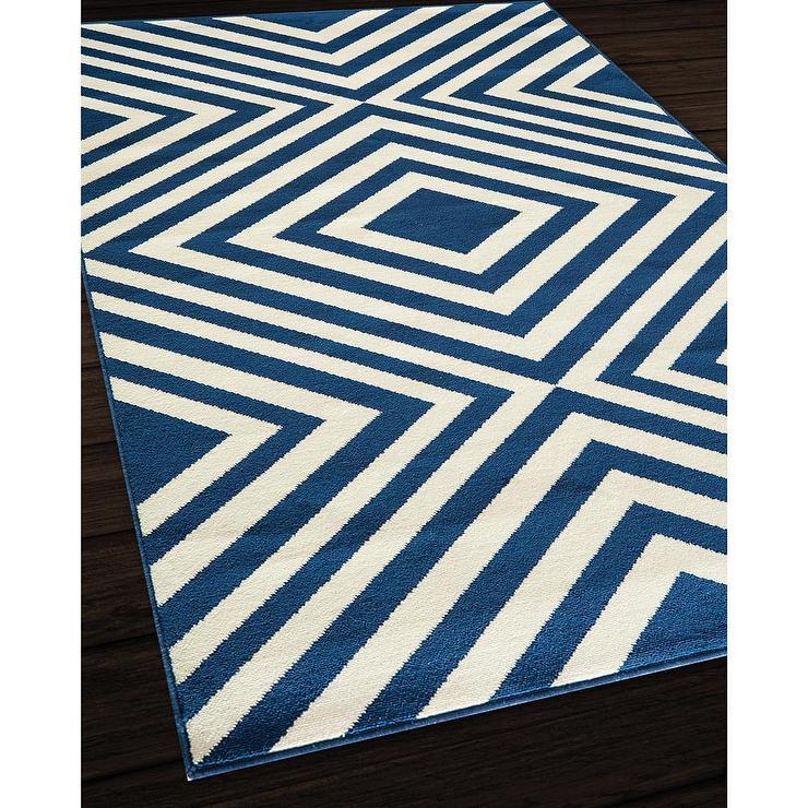 indoor outdoor navy zig zag rug 7 39 10 x 10 39 10