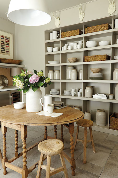 Cottage Pantry Shelving Cottage Dining Room Southern