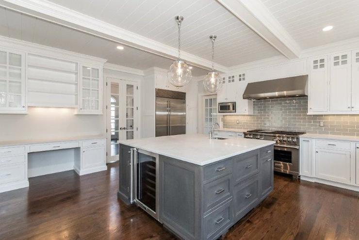 Square Kitchen Island - Transitional - kitchen - Jillian ...