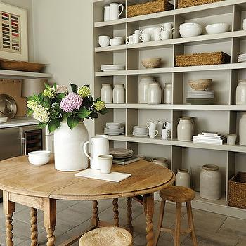 Cottage Pantry Shelving, Cottage, dining room, Southern Living