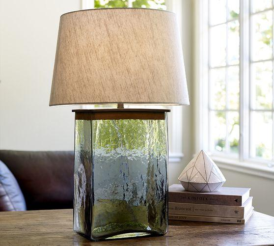 Webster Clear Glass Table Lamp Base