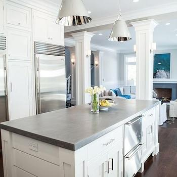 Kitchen Island with Concrete Top, Transitional, kitchen, Integrity Custom Woodworks