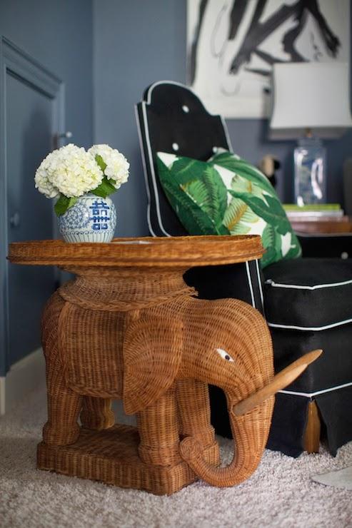 Wicker Elephant Table