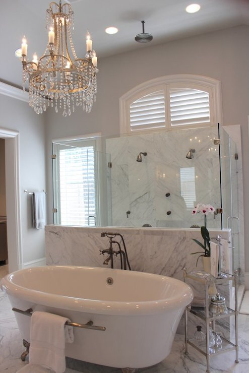 Bathtub With Towel Bar Transitional Bathroom Talbot