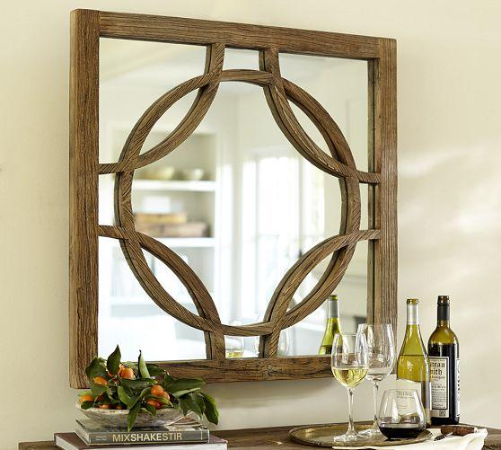 small decorative mirrors small circle brown link mirror 12203