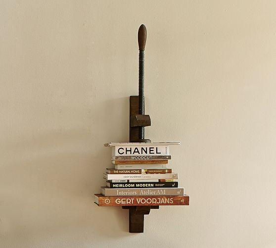 Book Press Brown Shelf