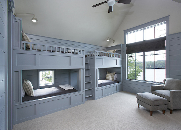 Blue Bunk Beds Cottage Boy S Room Sherwin Williams