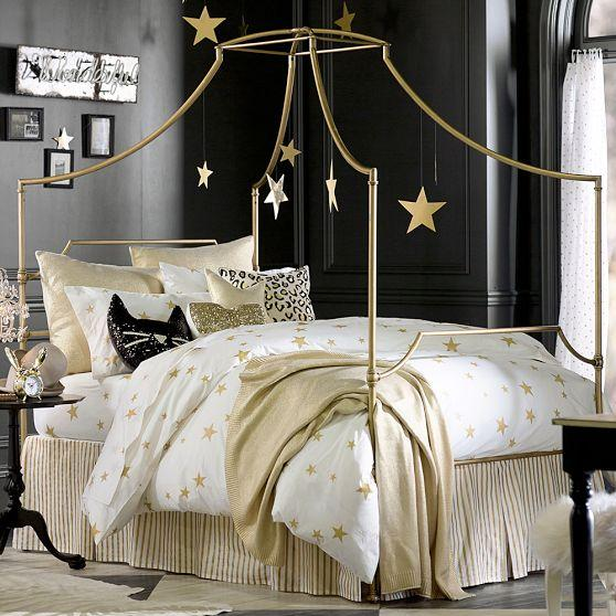 The Emily And Meritt Heart And Star Black And White Duvet