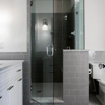 Grey Subway Tiles, Contemporary, bathroom, Urban Building Group