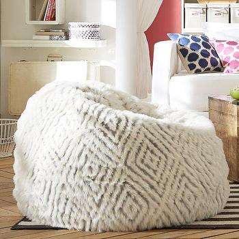 Kite Kilim Floor Pouf West Elm