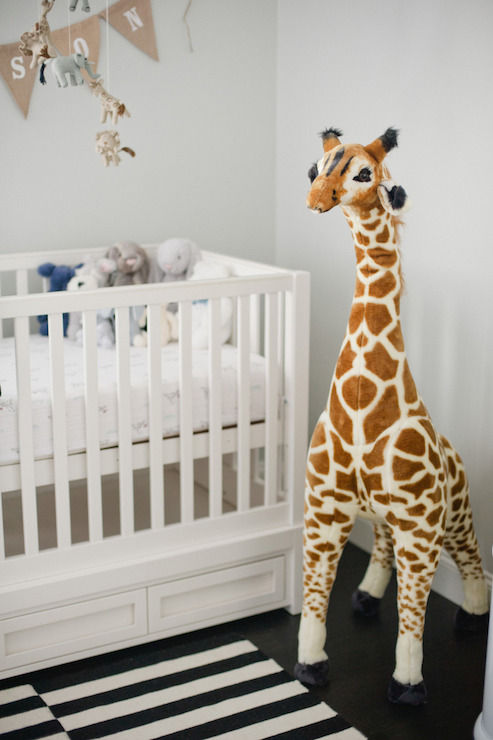 Nursery Giraffe Transitional Nursery Style Me Pretty