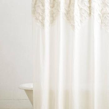Scallop Sequence Ivory Shower Curtain