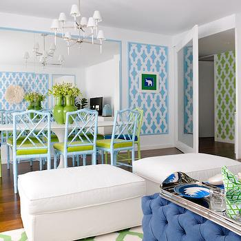 Contemporary   Dining Room view full size  Turquoise and lime green. Turquoise Sofa   Cottage   living room   Wendy Patrick Designs