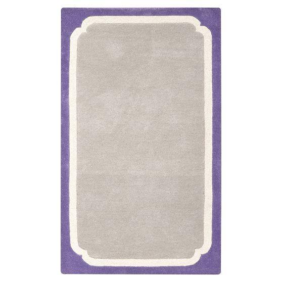 Color Pop Purple Border Rug