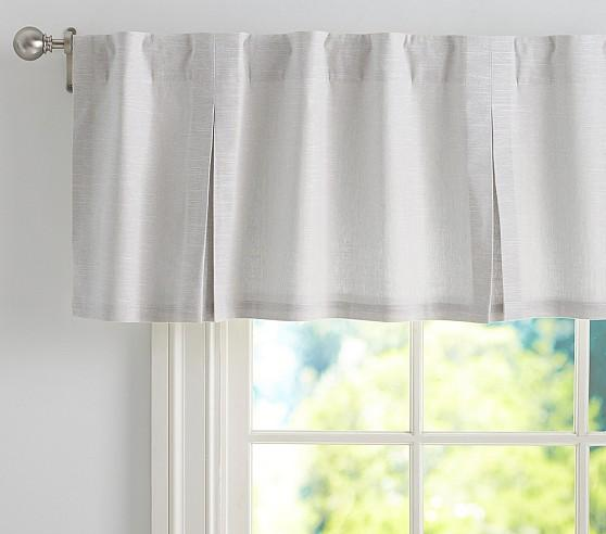 Evelyn Linen Grey Valance