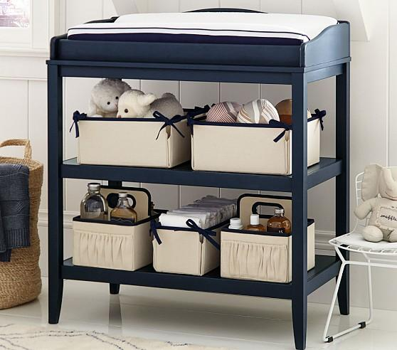 Emerson Grey Blue Changing Table
