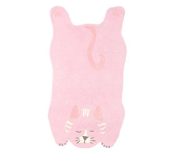 Marvelous Cat Shaped Pink Rug