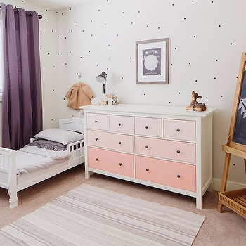 Ombre Dresser, Eclectic, boy's room, Oh My Dear Blog