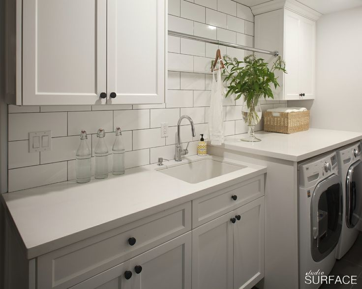 White Laundry Rooms