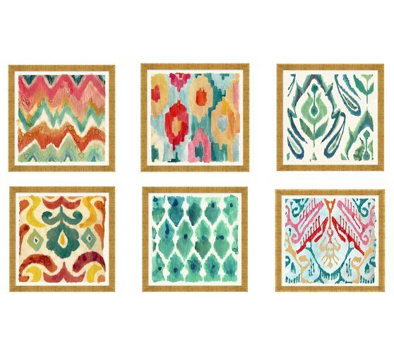 Ikat Pattern Wall Art - Products, bookmarks, design, inspiration and ...