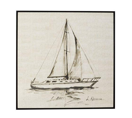 Sailboat framed ivory print malvernweather Gallery