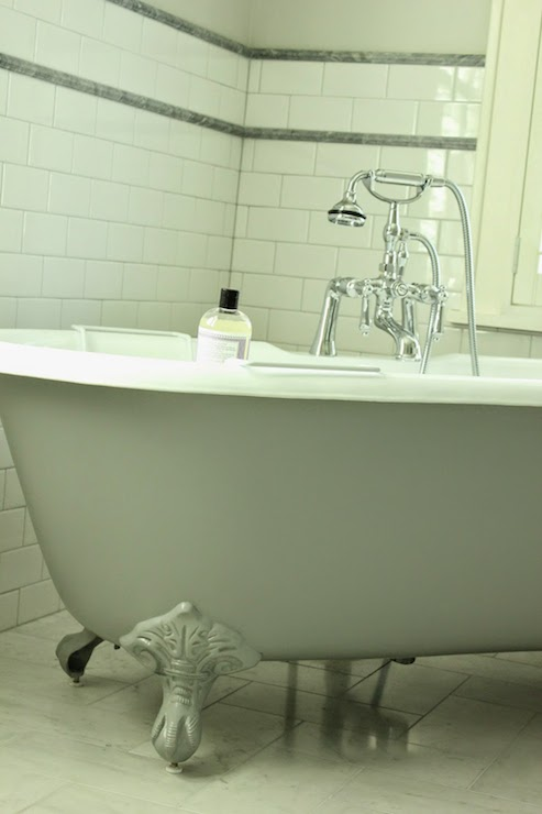 Grey Clawfoot Tub - Transitional - bathroom - Belmont Design Group