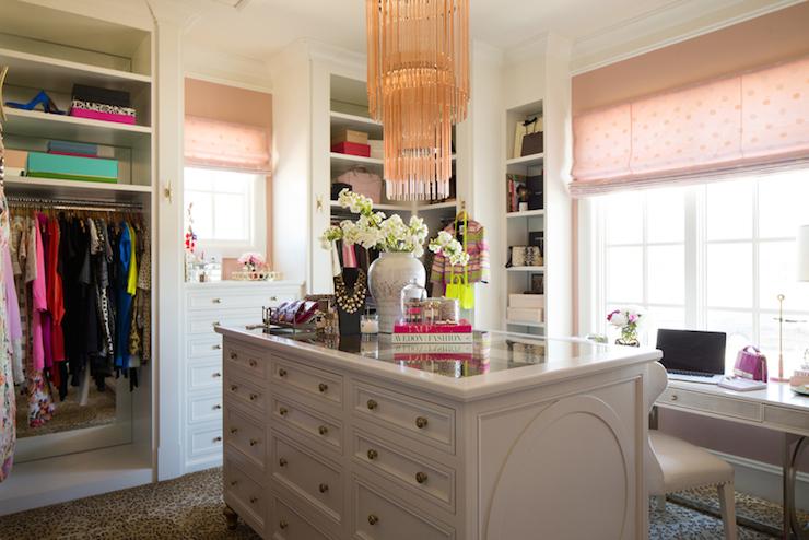 Closet chandelier transitional closet pink peonies closet chandelier aloadofball Images
