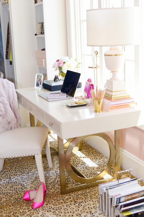 Closet Makeup Vanity - Transitional - closet - Pink Peonies