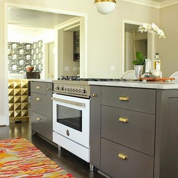 Grey Center Island, Transitional, kitchen, Belmont Design Group