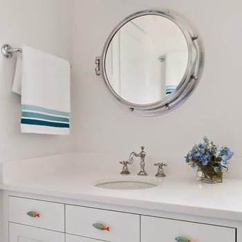 Fish Cabinet Hardware, Cottage, bathroom, Reiko Feng Shui Design