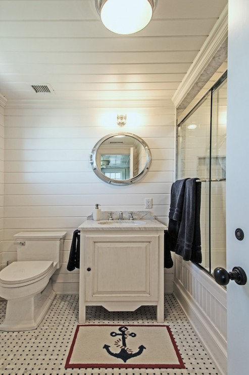 Nautical Bathrooms Transitional Bathroom Hamptons
