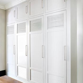 Lovely Louvered Mudroom Lockers