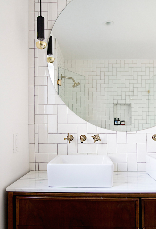 Very Subway Tile Accent Wall Design Ideas FX33