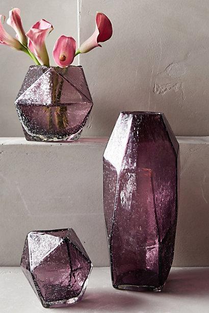Faceted Purple Gem Vase