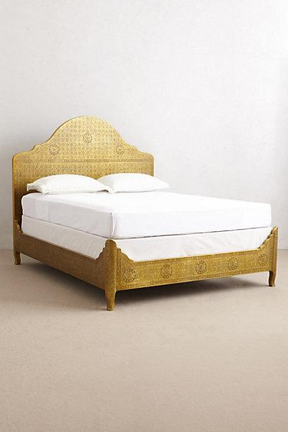 Hand-Embossed Gold Bed