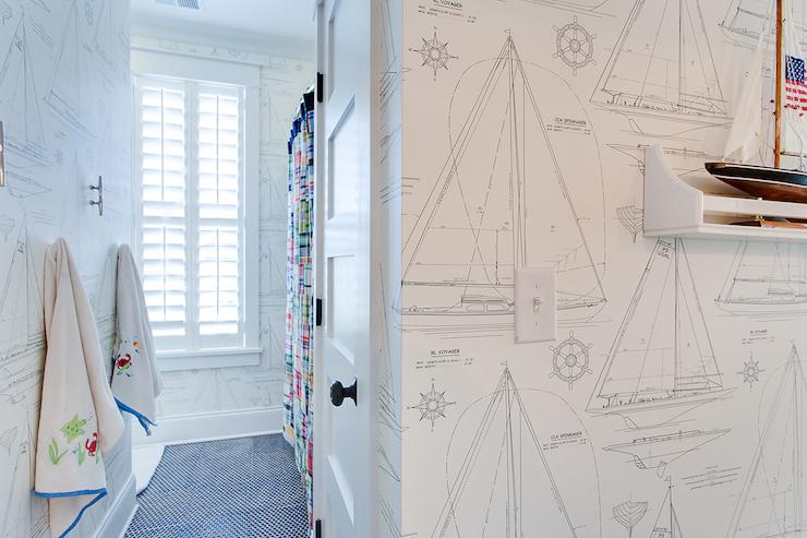 Nautical Wallpaper view full size - Nautical Wallpaper Design Ideas