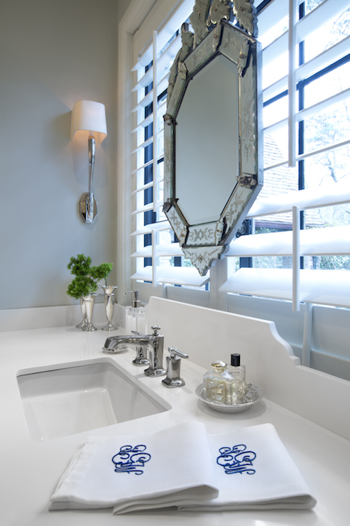 Wall Sconce Height Bathroom Above Sink : Waterworks Blue Note Wall Mounted Single Arm Sconce Design Ideas