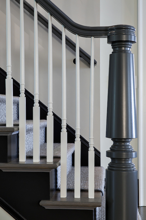 Gray Handrail Contemporary Entrance Foyer Jane Goetz