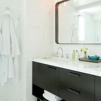 Black and White Bathrooms, Contemporary, bathroom, Darci Hether