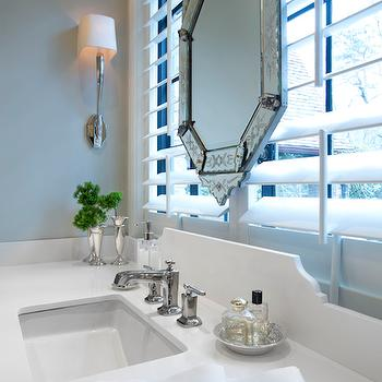 Bathroom Window Above Sink mirror in front of window design ideas